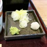 21138471 - 夏野菜の天せいろ(薬味アップ)