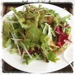 ホルツはつしま - サラダ&ドリンクセット  ¥250  のサラダはてんこ盛り!