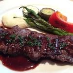 Resutoranyamanekoken - 牛ハラミのステーキ