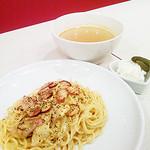 アプリカーサ - 黒胡椒のきいたカルボナーラ