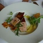 21149528 - 旨脂舞豚のテリーヌ さつま芋のアグロドルチェ