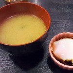 21149586 - お味噌汁と温泉卵