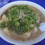 来来亭 - ワンタン(麺大盛り)チャーシュー白身、葱多め