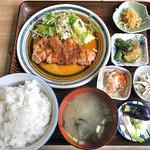 日の出食堂 - 料理写真:しょうが焼き定食(大盛)