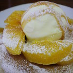 アトリエオハナバコ アンド ハコカフェ - ダブルパンケーキ オレンジキャラメル