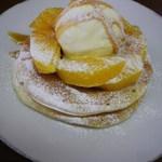 アトリエオハナバコ アンド ハコカフェ - シングルパンケーキ オレンジキャラメル