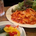 2116938 - ベーコンとトマトのスパゲッティ