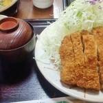 とんかつの竹亭 - とんかつの竹亭 田上店@鹿児島 ダブルかつ定食