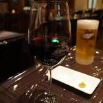 いわむら - 赤ワインも~