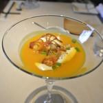 祇園 Abbesses - バターナッツカボチャとヘーゼルナッツの冷製スープ