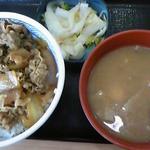 吉野家 - 牛丼並280円 トン汁とおしんこセット220円
