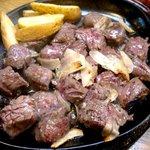 グリル上坂  - 料理写真:鉄板焼き定食 250g \1,900の鉄板焼き