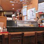 四方平 - お寿司屋さんのカウンターもちゃんとあります。