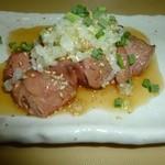 鶏翔 - 料理写真:白レバテキ【炙り白レバ・鶏のフォアグラ!!当店一番人気】660円