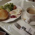 プルミエカフェ - 料理写真:「モーニングセット」500円  ドリンクはいつものとおり「アメリカン」です。