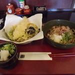 千成そば - 「千成ランチ」1,000円 「辛味おろしそば」と「大海老天と野菜天そば」の2種です。