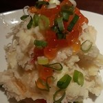 21188497 - いくらとカニ、ホタテの贅沢ポテトサラダ(480円)。
