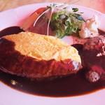 バンボシュ - 料理写真:ハンバーグ&オムライス