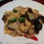 龍記 - キクラゲと豚肉、玉子の炒め