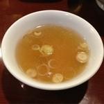 元祖十八番 - チャーハンのスープです。
