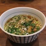 麺処 びぎ屋 - 醤油つけ麺 の汁