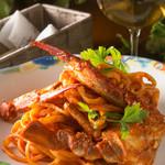 ダイニングバー エイト - 渡り蟹のリングイネ トマトクリームソース