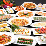 天壇  - 韓流ビュッフェカウンターにはおかずやデザートなどが勢ぞろい!