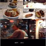 てっちゃん - 2013/09/XX 生ビール、煮込み、ホッピー、中身キンミヤ焼酎、つくね、手羽先