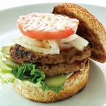 ABBOT KiNNEY - ダブルデラックス ハンバーガー 1,200円 (ドリンクセット 1,400円) ハンバーガーには全てポテトが付きます