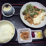 旬魚旬菜 夢花 - チキン南蛮定食(680円)プラス100円の茶碗蒸しを追加 (2013/9)