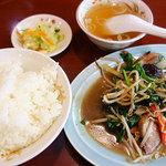 Gansojuuhachiban - ニラレバ炒め定食