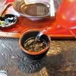 箱根旧街道 石だたみ - 蕎麦湯