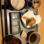 天ぷら割烹 和 - 海老、蓮根、アスパラ