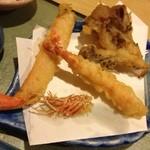 天ぷら割烹 和 - 蟹、海老、舞茸