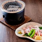 無名屋 - 料理写真:自分が好きなあぶり加減で食べられる『宮崎地鶏の塩焼き』