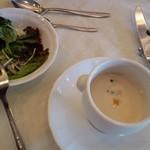 21212373 - 京芋のスープ&サラダ(2009.10)