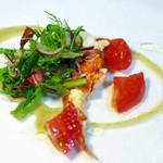リストランティーノ ルベロ - オマール海老のインサラータ、蟹味噌のソース