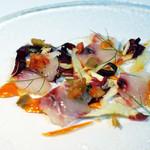 リストランティーノ ルベロ - 真鯛のカルパッチョ仕立て