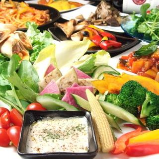 一日分の野菜が摂れるブランチコース2DRINK付3200円