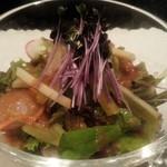 鉄板焼き ステーキ 千手 - サラダ