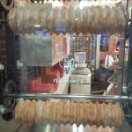 和のねんりん家 - イミテーションのバウムクーヘン焼き場