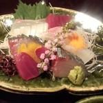 日本料理雲海 - 2013.9-2 【秋の味覚会席】       刺身 旬のお魚吹き寄せ盛り