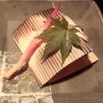 日本料理雲海 - 2013.9-5 【秋の味覚会席】焼物 杉板焼き 旬のお魚松茸包み祐庵焼き 捻り甘藷