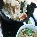 美々卯 - 鱧と松茸の天丼