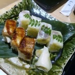 美々卯 - 穴子と鯛の棒寿司