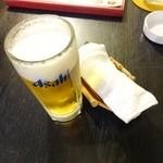 興和軒 - 晩酌セット980円Aの生ビール