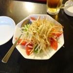 興和軒 - 晩酌セット980円Bの野菜サラダ