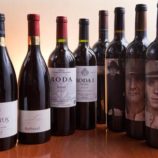常時5種類のグラスワインを堪能!!