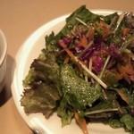 銀座イタリアン Fabi's  - ランチのサラダ&スープ