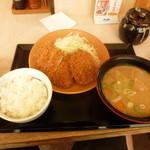 とんかつ かつや - ロースメンチカツ定食(とん汁大)881円